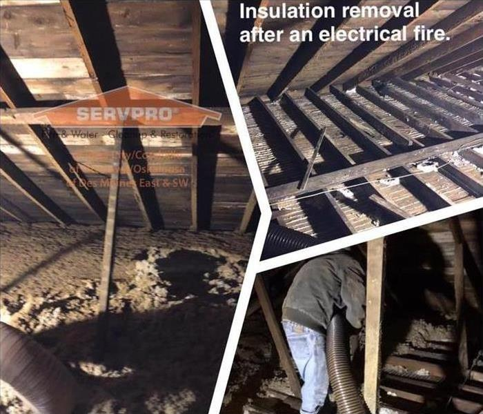 Insulation Removal after Fire