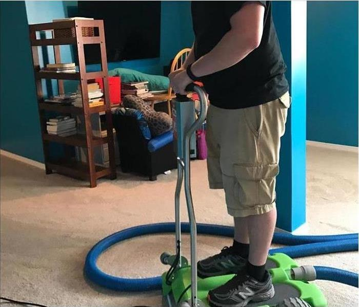 Removing water from Carpet in Ankeny